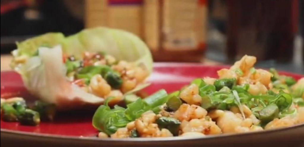 Prawn & Pine Nut Lettuce Wraps